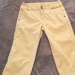 Pure Color Cropped Jeans